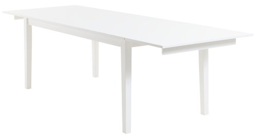 Dining table NORDBY 90x180 white