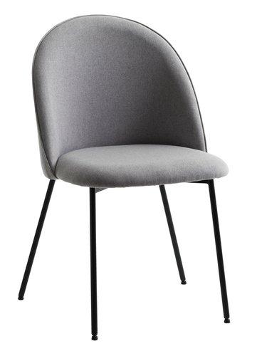 Jedál. stolička DYBVAD svetlosivá/čierna