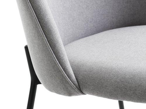 Jedálenská stolička DYBVAD svetlos/čier.
