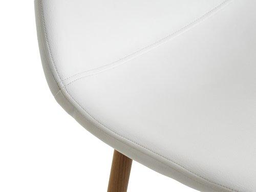 Krzesło barowe JONSTRUP biały/dąb