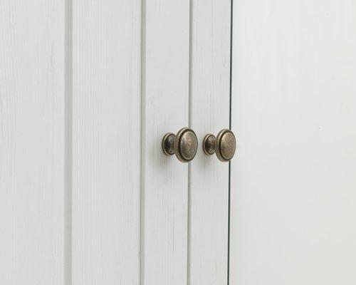 Гардероб MARKSKEL 162x210 см бял/дъб