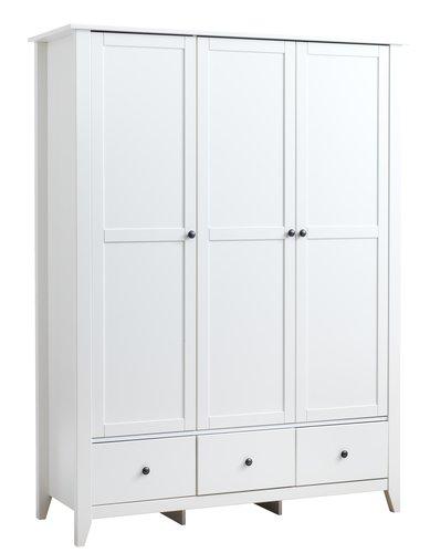 Wardrobe NORDBY 150x200 white