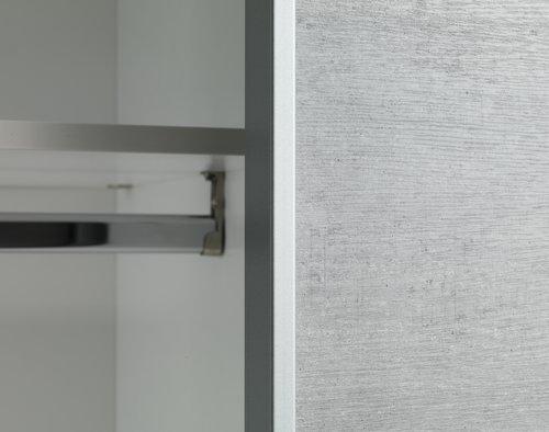 Kledingkast TARP 202x221 betonlook/wit