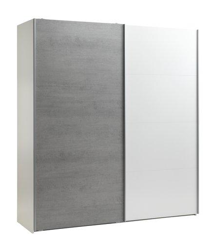 Kleerkast TARP 200x220 beton/wit