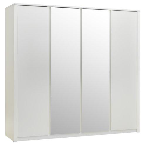 Skab VEDDE 219x209 m/spejl hvid