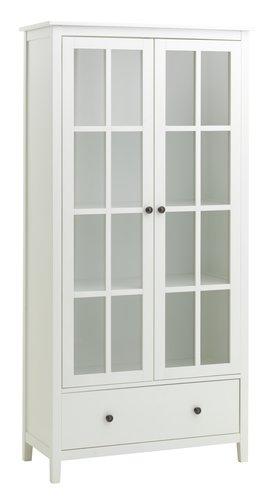 Witryna NORDBY 2drzwi 1szufl. biały
