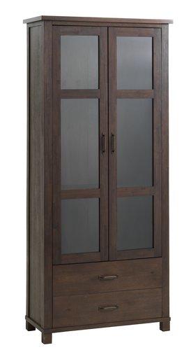 Vitrina RAMSING 2 vrata tamnosmeđa