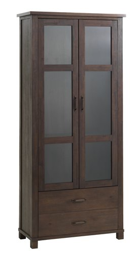 Display cabinet RAMSING 2door dark brown