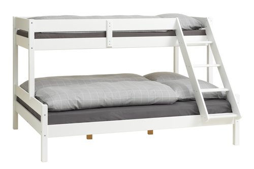 Bunk bed VESTERVIG SGL/DBL white