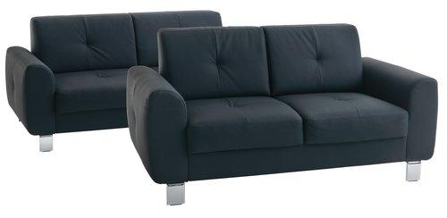 Set canapele DAMHALE 2 bucăti negre