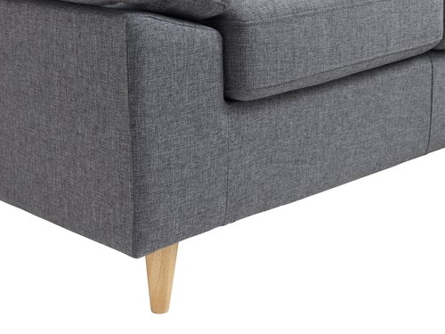 Sofa GEDVED chaise longue grey