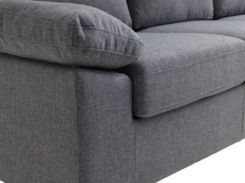 Sohva GEDVED 3-istuttava harmaa