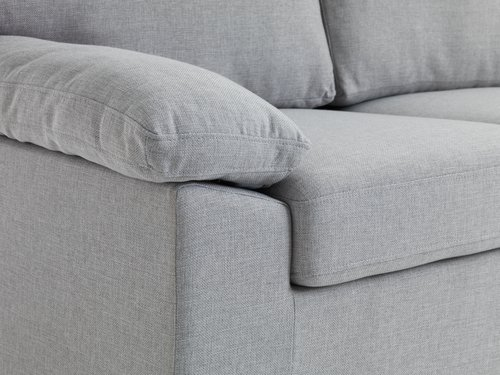 Sofa GEDVED 2 seater light grey