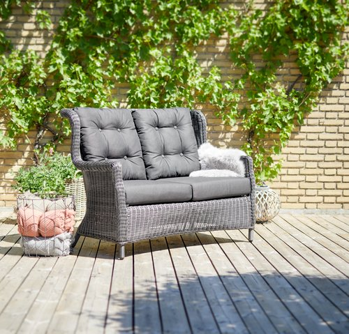 Lounge sofa FALKENBERG 2 pers. grey