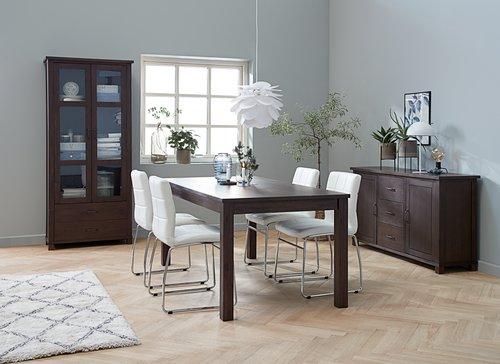 Jedilniški stol HAMMEL bela/krom