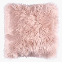 Coussin TAKS 40x40 fausse fourrure rose