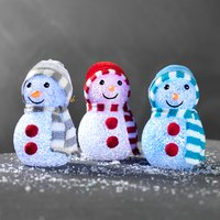 Sneeuwpop CEDROS m/LED assorti