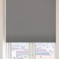 Plisségardin FYN 90x210 lysdemp grå