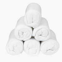 Prześc. frotte 160x200x25cm białe