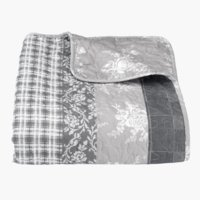 Bed throw KORNBLOMST 220x240 grey