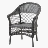 Stacking chair MAGLEBJERG grey