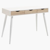 Desk PLOVSVAD 50x110 oak/white