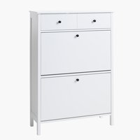 Shoe cabinet TERPET 2 comp. white