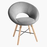 Fotelja KAPPEL siva tkanina/hrast