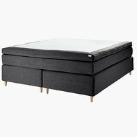 Boxspring 150x200 GOLD C75 donker grijs