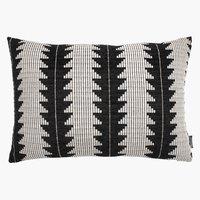 Възглавница SKOGSIV 40x60 см черно/бяло