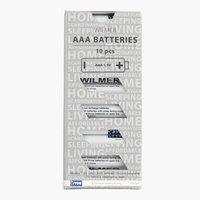 Batterien WILMER AAA AM4 10Stk/Pck
