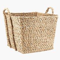 Basket MARINUS W40xL40xH31cm straw
