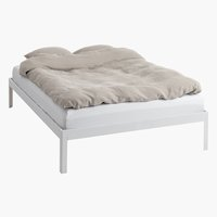 Bed frame POLDEN DBL white