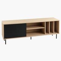 TV-meubel FARSUND eiken/zwart