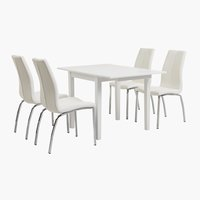 NORDBY L120 white + 4 UK HAVNDAL white