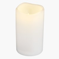 Pillar candle SOREN D8xH10cm w/LED