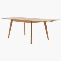 Table KALBY L130/220 chêne clair