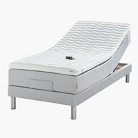 Elektr bed 90x210 GOLD E40 latex Grijs27
