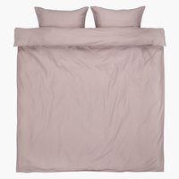 Duvet cover ELLEN KNG light purple