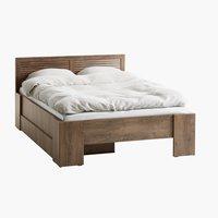 Rama łóżka MANDERUP 160x200 dąb dziki