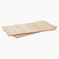 Shelves SATTRUP 98x52 2 pack oak