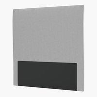 Sänggavel 105 PLUS H60 slät silvergrå