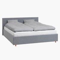 Рамка за легло EGERSUND 160x200 св.сива