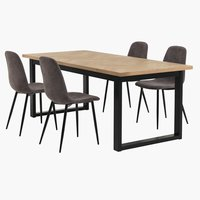 AGERSKOV L200 oak + 4 UK JONSTRUP grey
