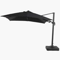 Zwevende parasol KERTEMINDE B300xL300