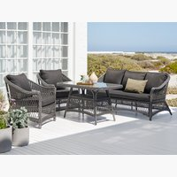 Set lounge MAGLEBJERG 5 pers. grigio