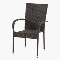 Stohovateľná stolička GUDHJEM hnedá