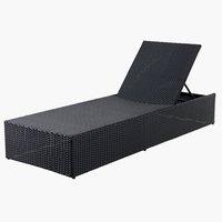 Шезлонг HASLE 70x198см чорний