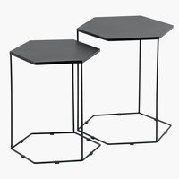 Nest of tables SAKSBORG black