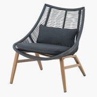 Cadeira lounge DANNEMARE cinzento